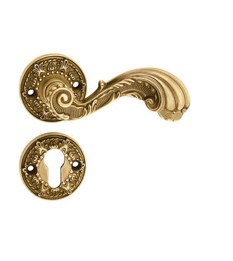 italian-mortise-door-handle-and-lock-on-rosette-for-villa