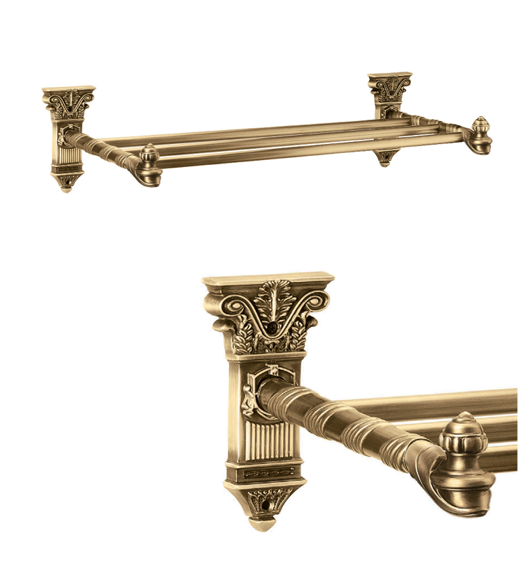 Stylish towel rack with single rod and 4 rod as per utility and size for bathroom and powder room for bungalows