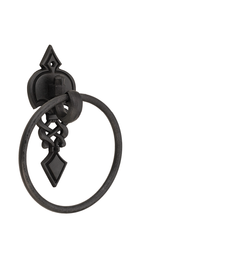 Stylish towel ring for bathroom and powder room for houses