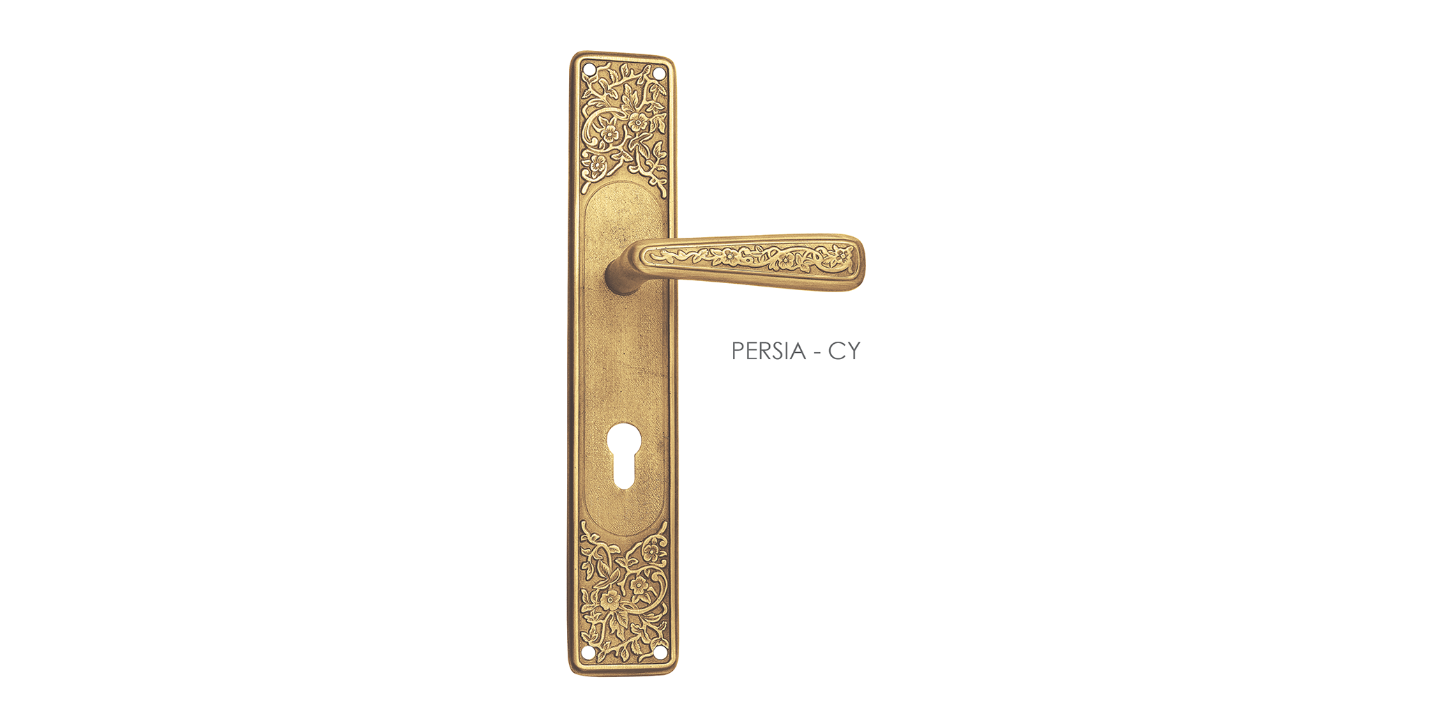 French Mortise Door Handle On Plate For Villa