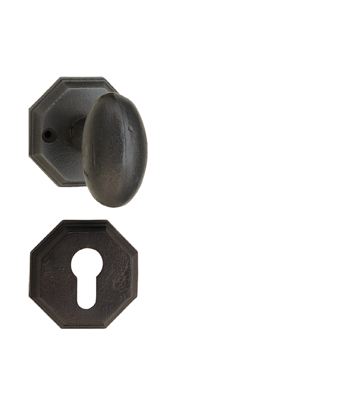 French mortise door knob on rosette for apartments
