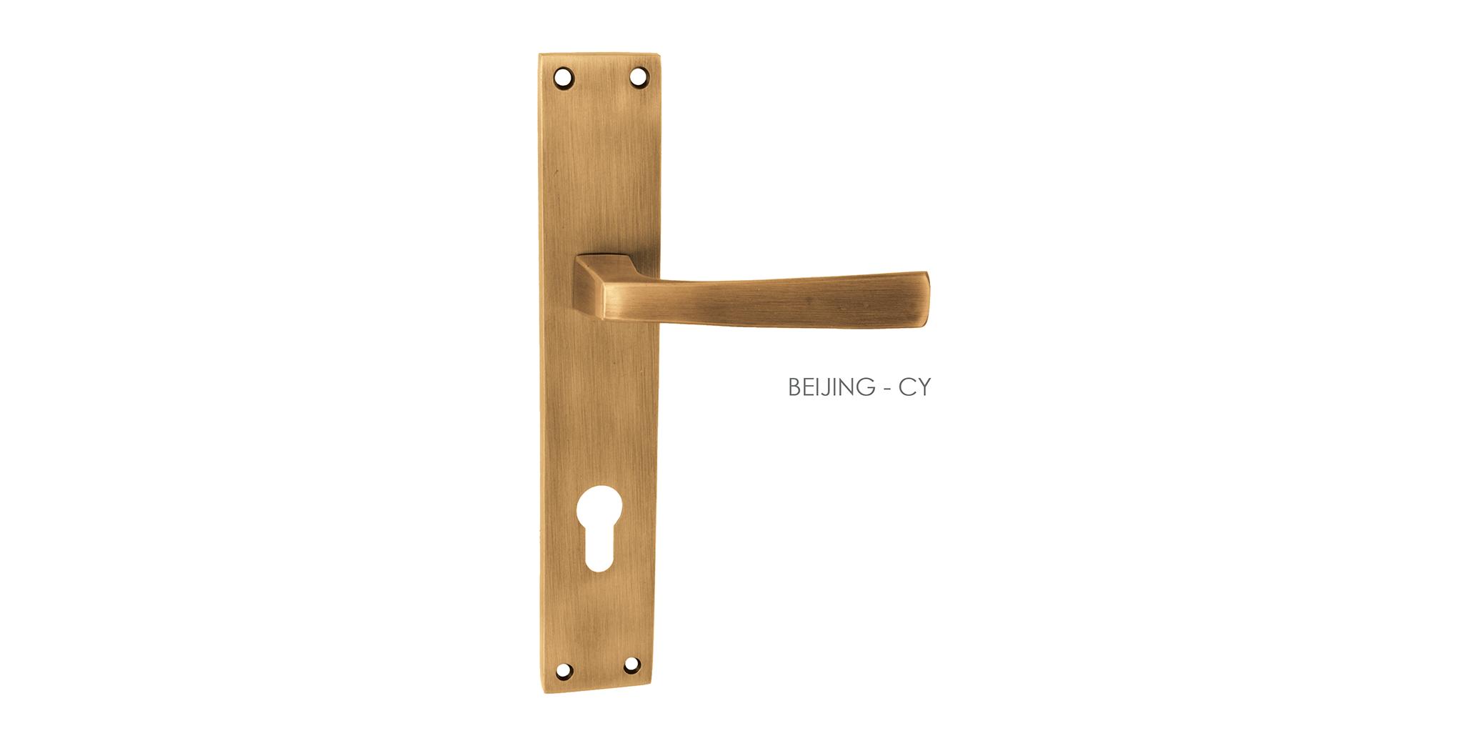 German Mortise Door Handle & Lock On Plate  For Apartments