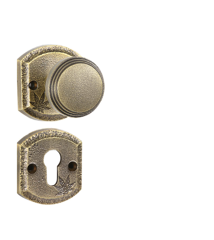 Indian mortise door knob on rosette for chateaus