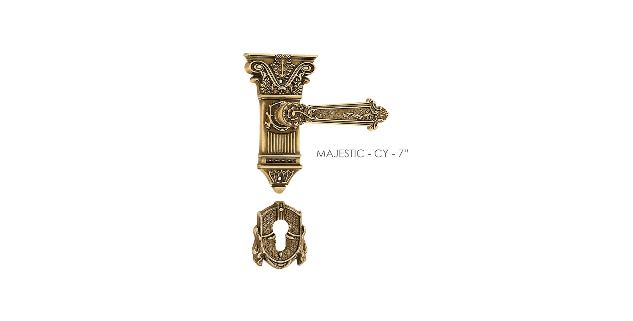 Italian Mortise Door Handle & Lock On Plate  For Homes