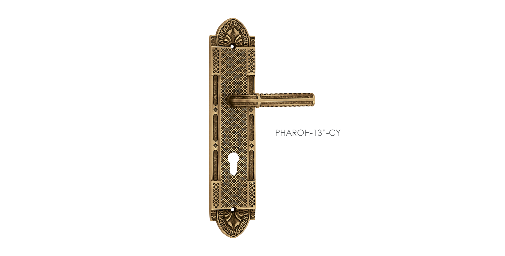 Antique Mortise Door Handle On Plate For Resorts