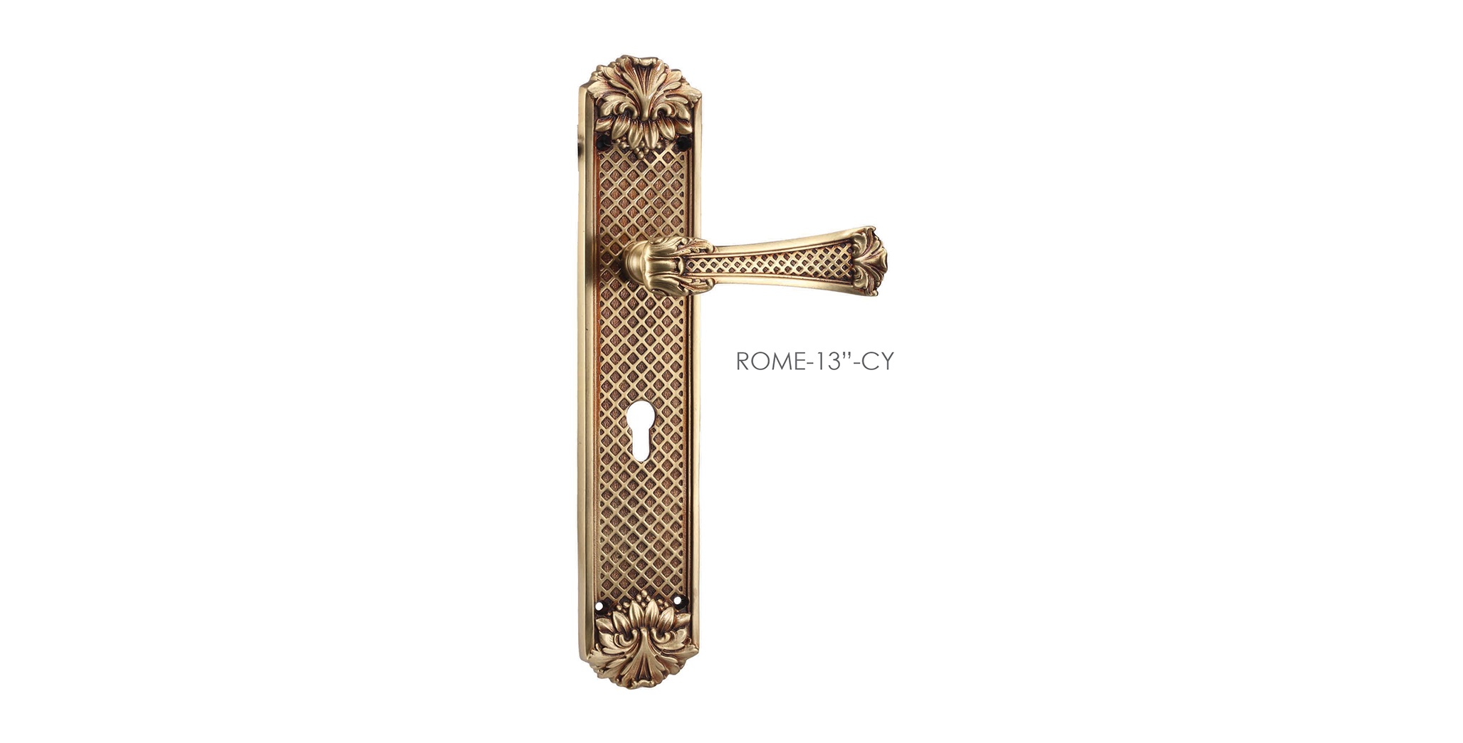 Baroque Mortise Door Handle On Plate For Homes
