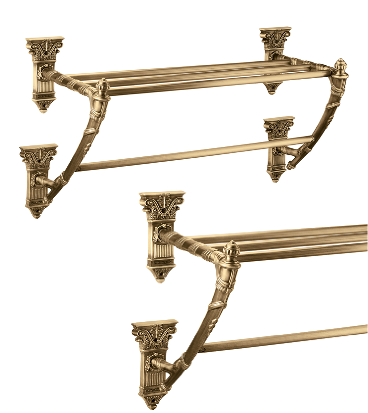 Big towel rack with single rod and 4 rod as per utility and size for bathroom and powder room for apartments