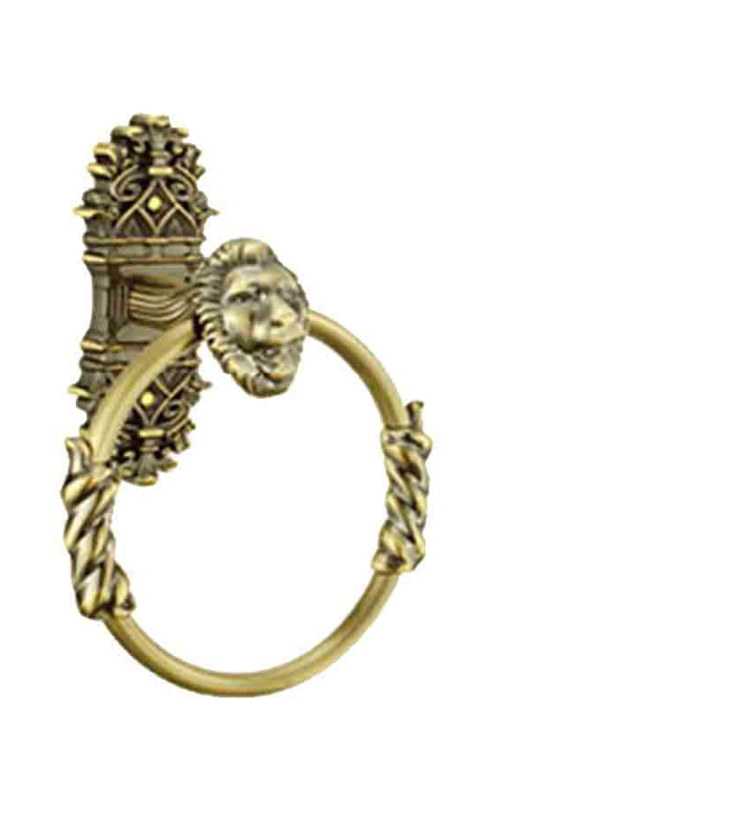 Black, gold, silver and rose gold towel ring for bathroom and powder room for apartments