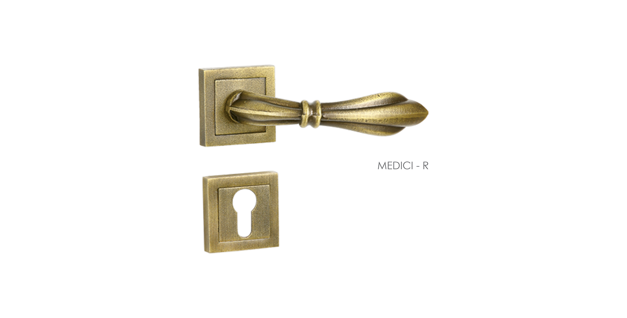 Customized Mortise Door Handle & Lock On Rosette For Apartments