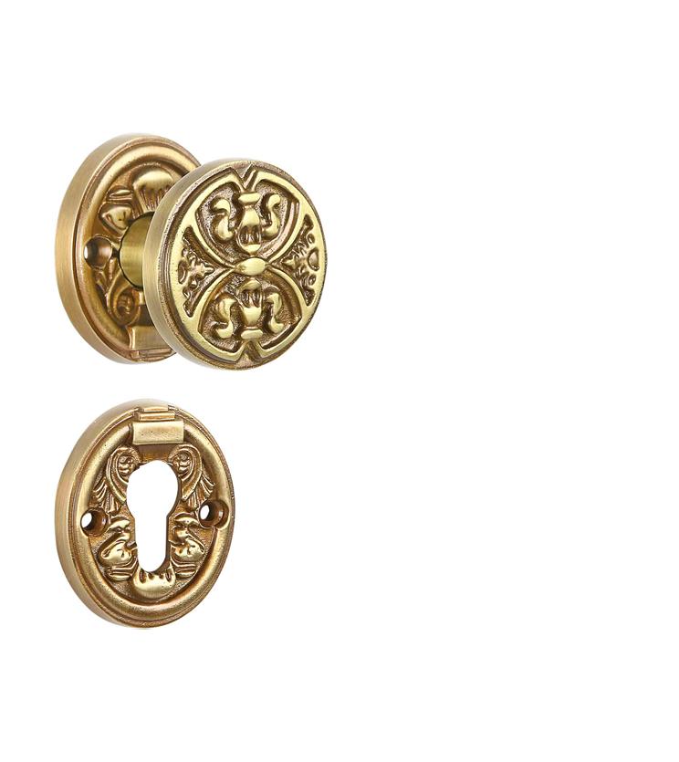 Customized mortise door knob on rosette for hotels