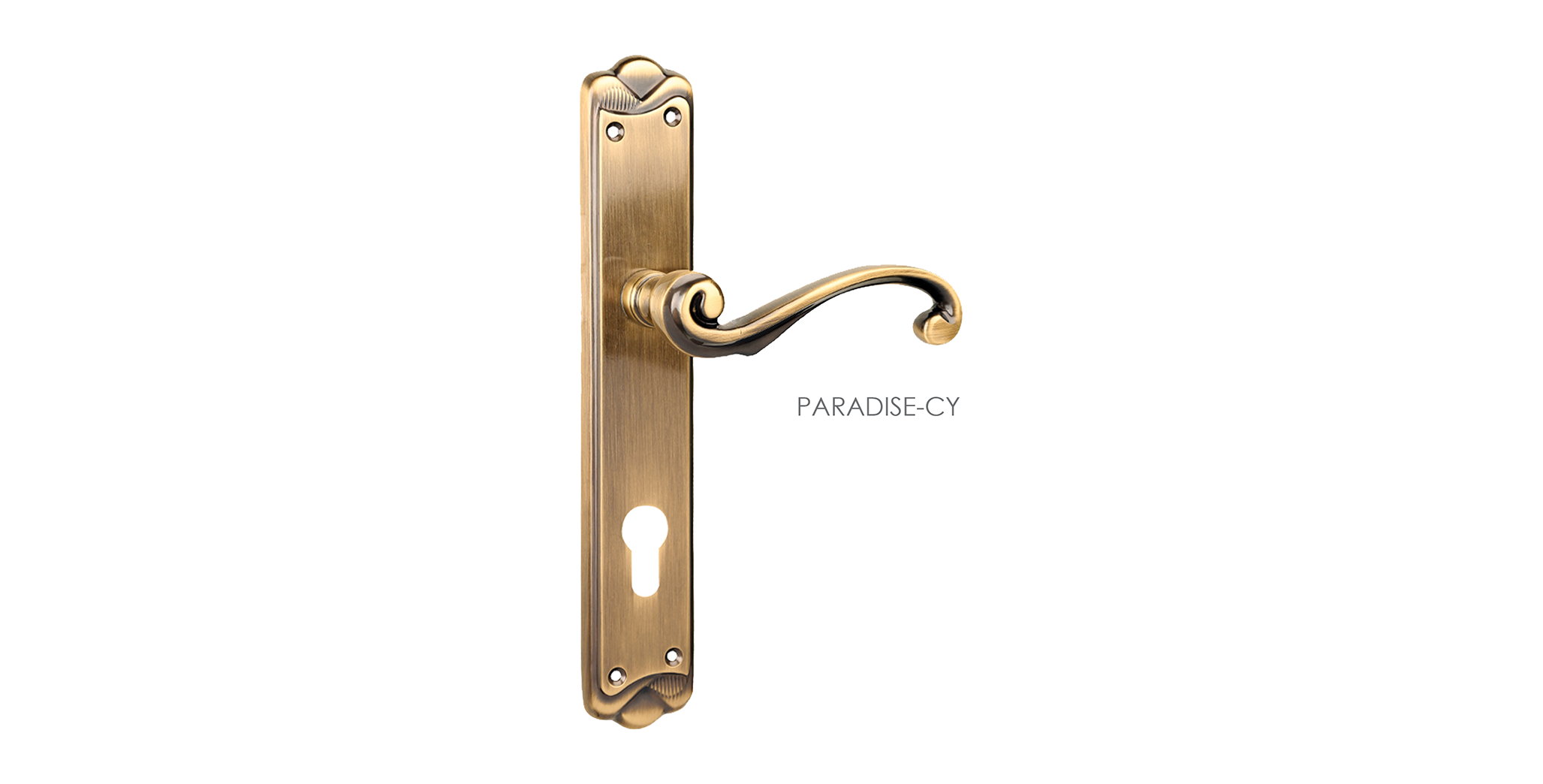 Fusion Mortise Door Handle & Lock On Plate  For Chateaus