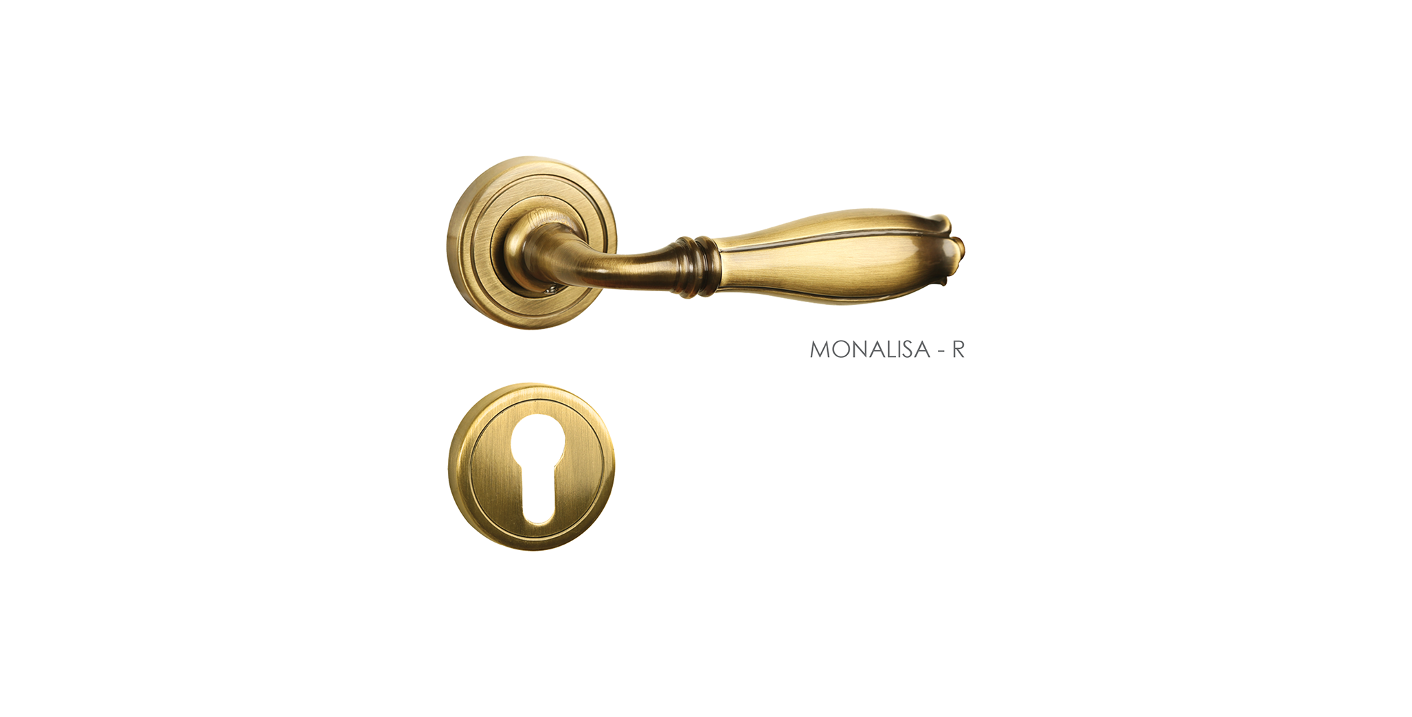 Fusion Mortise Door Handle & Lock On Rosette For Chateaus
