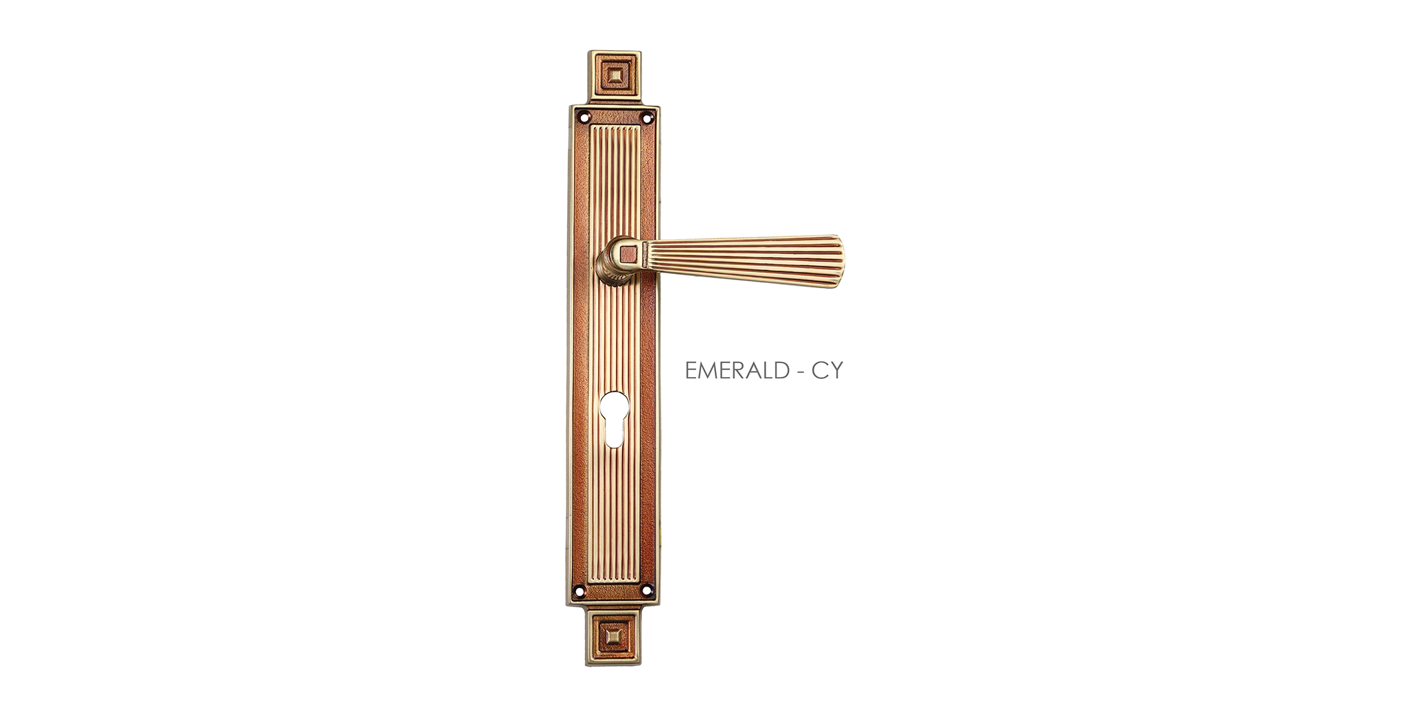 Fusion Mortise Door Handle On Plate For Resorts