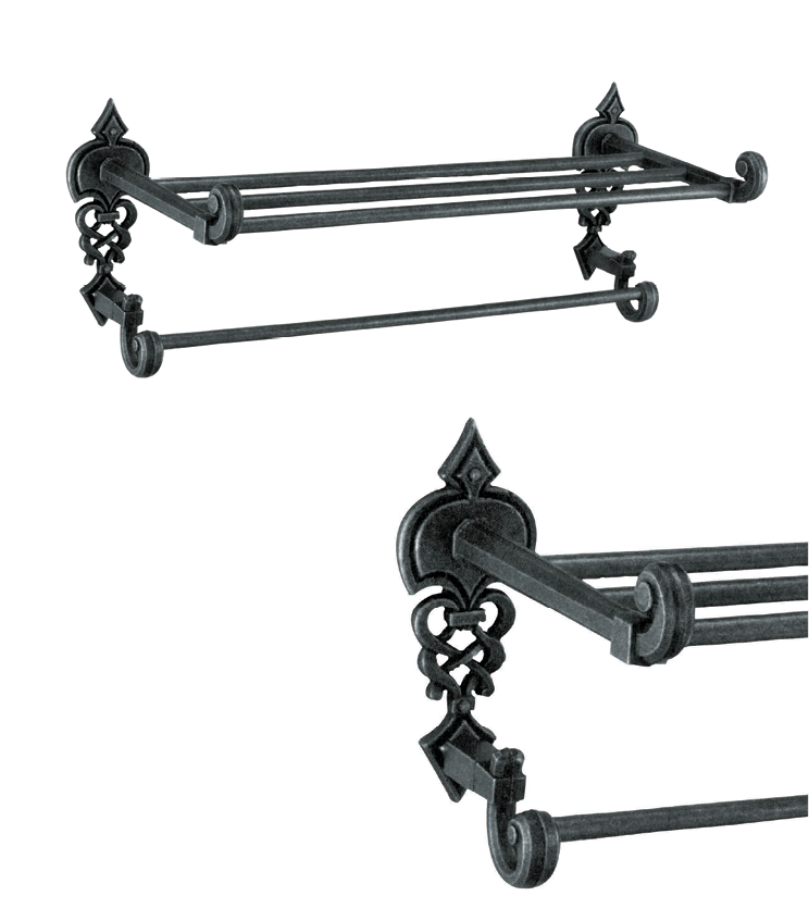 Fusion towel rack with single rod and 4 rod as per utility and size for bathroom and powder room for villa