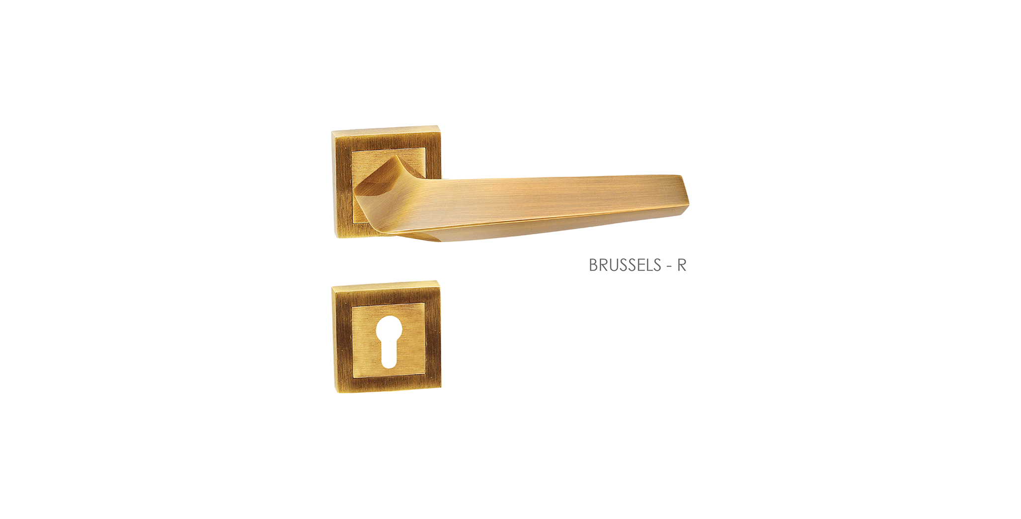 Straight Line Mortise Door Handle & Lock On Rosette For Chateaus